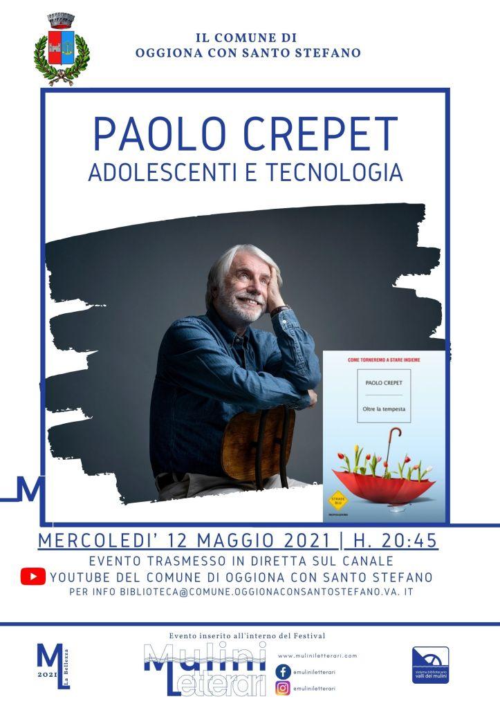 Locandina Paolo Crepet - Oggiona con Santo Stefano 12 maggio 2021